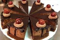 This Chocolate Cake with Tart Cherries is a real treat for the holidays and not only. Valentines Day is also a great opportunity to impress your partner with this one. If you like to bake from scratch, you will enjoy making this Frosting Recipes, Dessert Recipes, Desserts, Romanian Food, Cherry Tart, Let Them Eat Cake, Chocolate Cake, Holiday Recipes, Cake Decorating