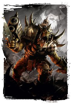 Codex: Orks by Raymond Swanland. This concludes the 7th edition art showcase and nicely segues into..