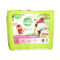 Buy Seventh Generation Free and Clear Baby Diapers Stage 3 (16-28 lbs) - 31 Ea, 4 Pack   Free of fragrances and petroleum based lotions means that you get to decide what goes on your babys sensitive skin. myotcstore.com - Ezy Shopping, Low Prices & Fast Shipping.