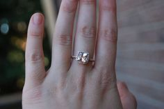 ummm... cushion cut, 2 carrat, pink champagne sapphire... what more could a girl ask for?