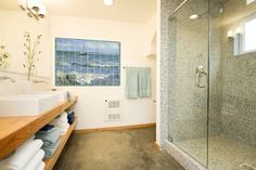 I like the shower and tile. The cabinetry and sinks are also nice.