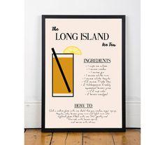 Long Island Ice Tea Print  - I want to make a Long Island one of these..