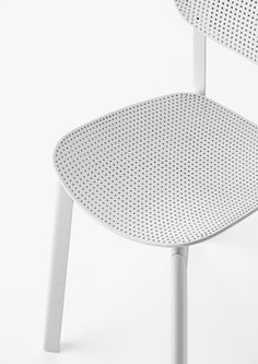 French designer Patrick Norguet has created a chair for furniture company Kristalia with a perforated seat based on the patterns of kitchen colanders Chair Design, Furniture Design, Plastic Design, Stackable Chairs, Living Furniture, Sofa Chair, Contemporary Furniture, Design Inspiration, Design Ideas