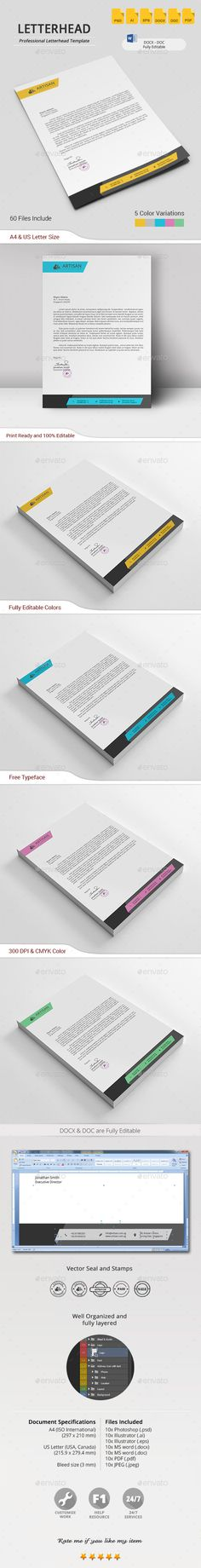 Buy Letterhead by artisanHR on GraphicRiver. Letterhead A simple unique letterhead for all kind of business and personal purpose usages. Company Letterhead Template, Letterhead Design, Brochure Design, Branding Design, Stationery Printing, Stationery Design, Letterhead Business, Business Card Design, Print Templates