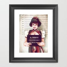 Buy Snow white by Adroverart as a high quality Framed Art Print. Worldwide shipping available at Society6.com. Just one of millions of products available.