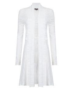 a85e7ac702b2c8 Phase Eight Lili Longline Cardigan White Longline Cardigan