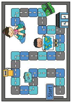 Thema vervoer; spellen voor kleuters   Klas van juf Linda Preschool Worksheets, Preschool Crafts, Transportation Activities, Coding For Kids, Kids Playing, Cool Kids, Art For Kids, Kindergarten, Teaching