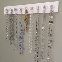 Crystal Knob Necklace Holder Jewelry organizer Wall Hanging