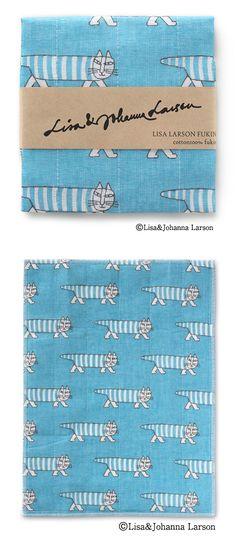 リサ・ラーソンふきん マイキー/ブルー #kitchencloth
