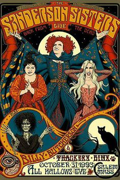 hocus pocus illustrated film poster halloween