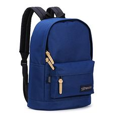 ENVOY Classic Lightweight Laptop Backpack School Bag Casual Daypack Large Dark Blue -- You can get additional details at the image link.