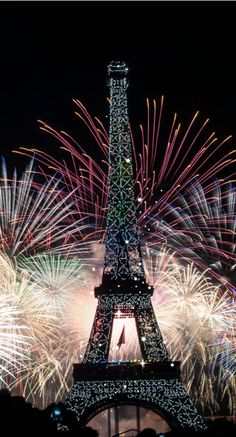 Eiffel Tower Fireworks, Paris, France -- by Vincent Le Gallic