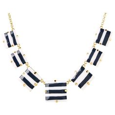 Kate Spade New York Stripe Setting Short Necklace ($128) ❤ liked on Polyvore