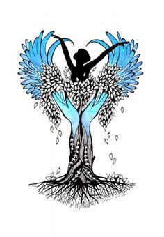 """""""Odrodzenie"""" - drawing, rysunek, fineliner, ink, zentangle, watercolor"""
