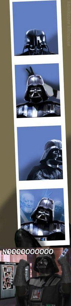 Vader gets photobombed