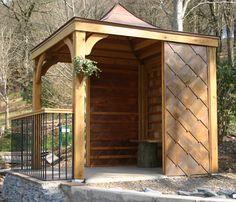 Copper roofed garden room created for RHS Rosemoor in Devon.