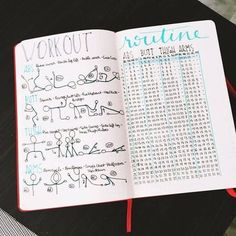 An epic list of workout trackers to try for your bullet journal! Pick your workout plan and keep track of your torture sessions in style. Try these Bullet Journal workout trackers for motivation and faster weight loss! Bullet Journal Yoga, Bullet Journal Routine, Bullet Journal Fitness, Planner Bullet Journal, Bullet Journal Layout, My Journal, Bullet Journal Inspiration, Bullet Journals, Journal Pages