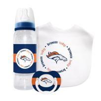 Denver Broncos Baby Gift Set: Kickoff Collection 3-Piece Baby Feeding Set