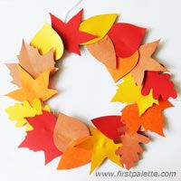 Fall Leaf Wreath -- celabrate the colors of autumn