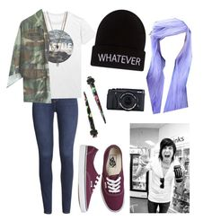 """""""Untitled #124"""" by catiepayne ❤ liked on Polyvore featuring H&M, Wet Seal and Vans"""