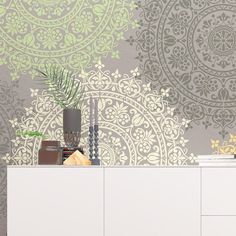 Use Medallion Mandala Stencil to paint the walls, floor, curtains, textiles, and just about everything you want to create an original design all around you!