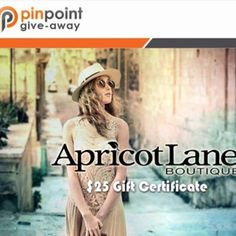PinpointSaving is Giving away a $25 Gift Card to Apricot Lane Augusta,  located in the Augusta Mall! Like, comment and share this post to be entered into the drawing. We'll be choosing a winner in 2 weeks on March 28th! Good luck to all! Be sure to like our page, Pinpoint Savings, and head on over to PinpointSavings.com to start saving some money! Click the Link Below!