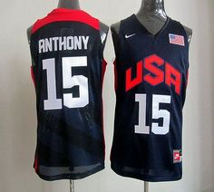 9495544039d94 Nike 2012 Olympics Team USA  15 Carmelo Anthony Dark Blue Stitched NBA  Jersey Dream Team