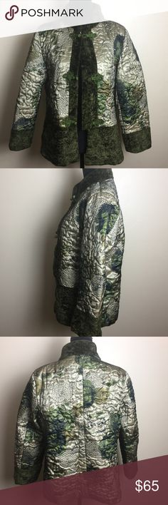 YIYIFAN Chinese Jacket Funky and chic this is a green multi color Chinese inspired jacket. Pre-owned with love ❤️ yiyifan Jackets & Coats