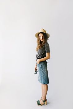The 'Kyra' is another one of our very own exclusive denim skirts. Designed with everyday wear in mind, this skirt will pair well with just about any casual top