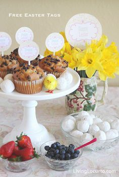 Easy #Easter Breakfast Idea with Free Party Printables via @Amy Locurto | LivingLocurto.com.com