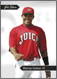 2006 Just Minors Just Rookies JR-24 Marcus Lemon (Baseball Cards) (TEX - SS) by Just Minors Just Rookies. $0.88. 2006 Just Minors Just Rookies JR-24 Marcus Lemon (Baseball Cards) (TEX - SS)