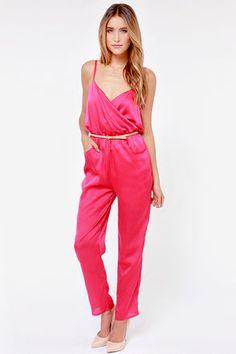 Let it Linger Pink Jumpsuit at Lulus.com!