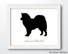 Personalized HandCut American Eskimo Dog Silhouette by ShapeofLove
