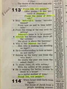 Jehovah wants us to know and use his name! Psalm 113 ♥•.¸¸.•♥ JW.org has the Bible bible based study aids to read, watch, listen download in 300+ (sign included) languages. They also offer free in home bible studies. All at no charge.