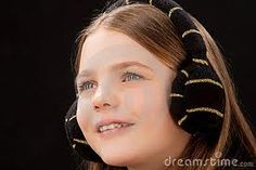 smiling caucasian little girl with teeth braces