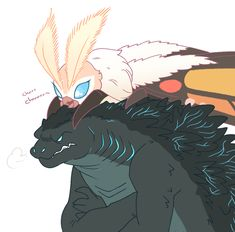 Godzilla and Mothra King Kong, Character Inspiration, Character Art, Godzilla Comics, Godzilla Wallpaper, Pokemon Comics, Monster, Creature Design, Furry Art