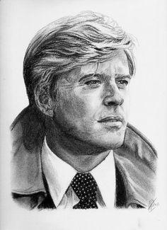 Pencil Portrait Mastery - ARitz - Dessinatrice au Fusain, Pastel sec, Pierre noire et Crayon Gomme - Robert Redford - Discover The Secrets Of Drawing Realistic Pencil Portraits