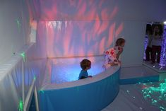 I love sensory rooms. They are intended to calm and inspire children with disabilities.