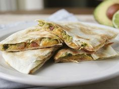Bacon-Guacamole Quesadillas- I want some of these right now! YUM!