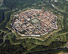 Neuf-Brisach, Haut-Rhin, Alsace, France.  After the peace of Ryswick 1697 and the loss of Breisach to Habsburg, France built this fortified town to guard the new German border.