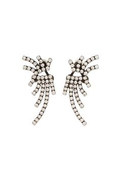 """Dannijo """"Willis"""" Oxidized silver plated ear jacket consists of 3 separate pieces.Jacket component can be worn on any of your favorite studs, ie. pearls or diamonds.    Measures: 1.75"""" L x 0.5"""" W   Oxidized Silver Earrings  by DanniJo. Accessories - Jewelry - Earrings - Ear Cuffs Toronto, Canada"""