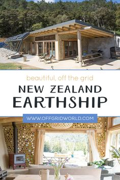 New Zealand Earthship is Simply Amazing With four bedrooms, two bathrooms, and large recreation area Natural Building, Green Building, Building A House, Planos Earthship, Off Grid House, Off The Grid Homes, Earthship Home, Sustainable Architecture, Residential Architecture