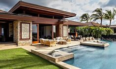 Casa de lujo estilo balinés en Kailua-Kona, Hawaii http://www.arquitexs.com/2014/01/residencia-de-lujo-estilo-balines-en.html