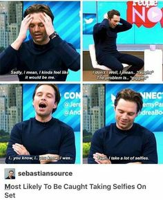 Sebastian Stan portrays the fictional role of Marvel comic character Bucky Barnes/ Winter Soldier in the Marvel movies. Marvel Dc, Marvel Actors, Marvel Funny, Marvel Memes, Funny Avengers, Marvel Comics, Bucky Barnes, Ben Barnes, James Barnes