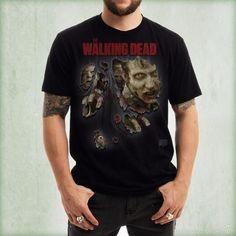 Camiseta de chico M/C The Walking Dead - Ripped Through - Talla L