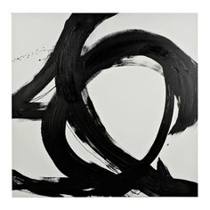 Black and White Abstract Canvas Art Print | Kirklands