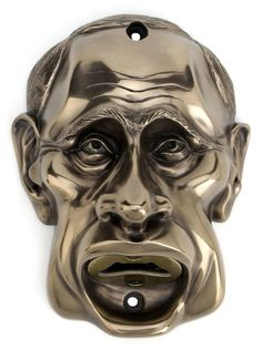 """STUNNING! A BEER BUDDIES /""""JESTER/"""" WALL MOUNTED BOTTLE OPENER SILVER FINISH"""