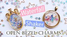 Kawaii UV Resin Tutorial: Waterfall & Shaker Open Bezel Charms (2 Different Techniques) - YouTube