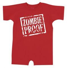 Zombie Proof Romper - Baby Boy Playwear