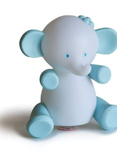 Giimmo Elephant - Blue is cute, fun and portable, just charge up the light and off you go.  Once charged, this Giimmo night light will cycle through a range of colours for approx 6 - 8 hours before needing charging again. Tap on and off function makes it easy to use. $49.95